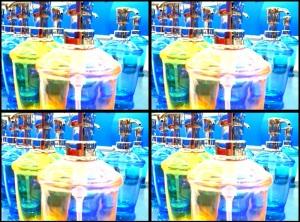 qc shiny plastic rainbow